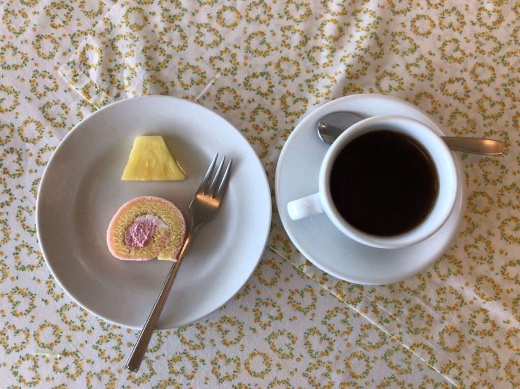 写真:長崎諫早 パスタクラブフェローズ ランチセットのデザートとコーヒー