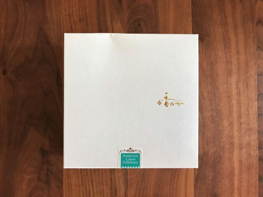 写真:香のか しまなみレモンチーズケーキ パッケージ
