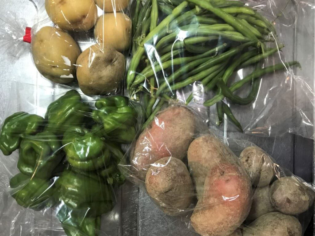写真:農家さんにいただいた糸島野菜