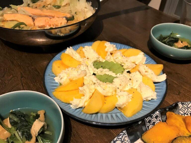 写真:柿モッツアレラのサラダ